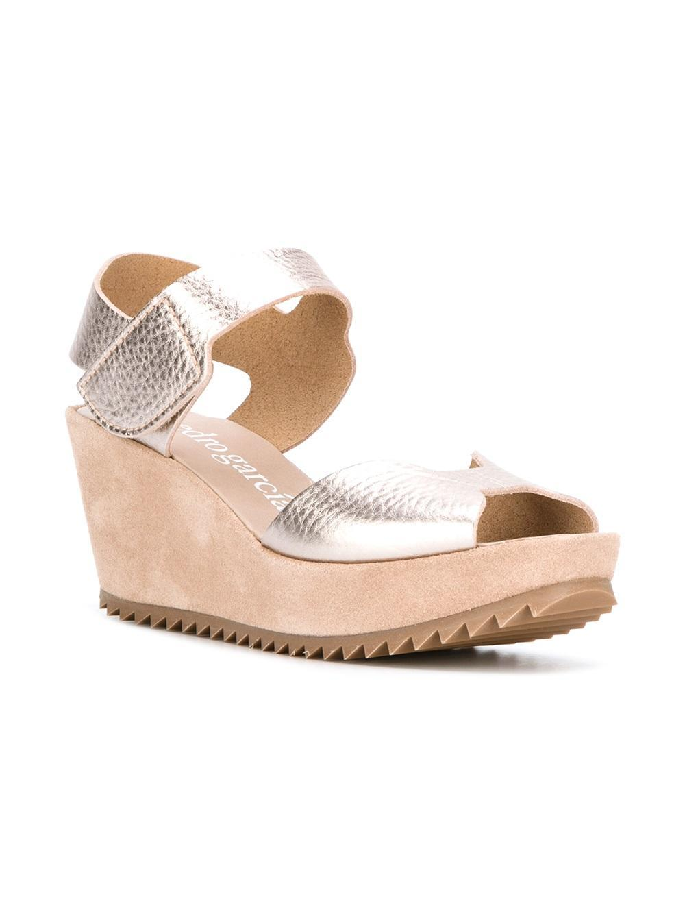Lyst Pedro Garcia Fama Sandals In Metallic