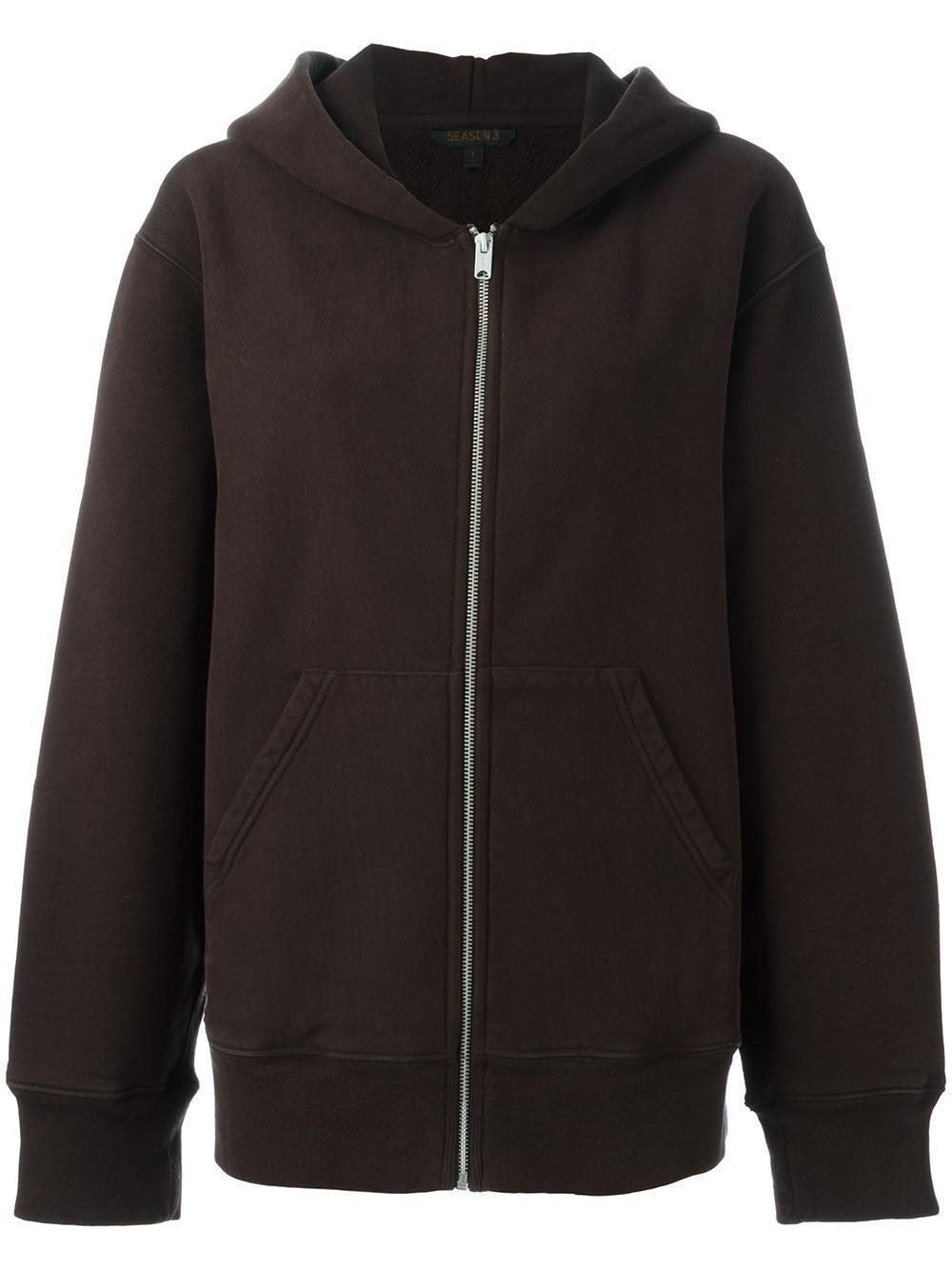 lyst yeezy season 3 oversized hoodie in brown for men. Black Bedroom Furniture Sets. Home Design Ideas