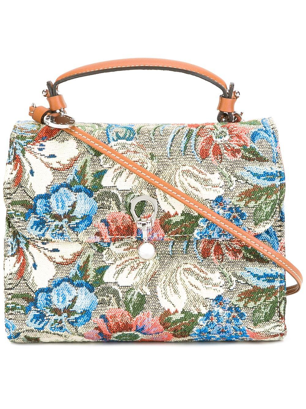 Ermanno Scervino Floral Print Crossbody Bag In Blue | Lyst