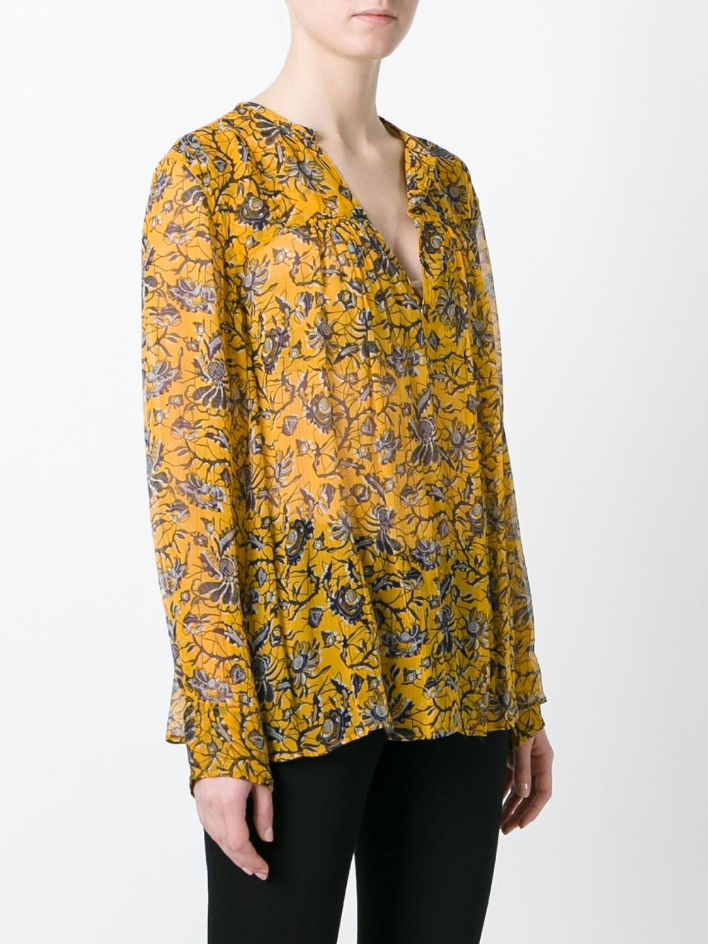 Lyst toile isabel marant 39 boden 39 blouse in yellow for Boden yellow