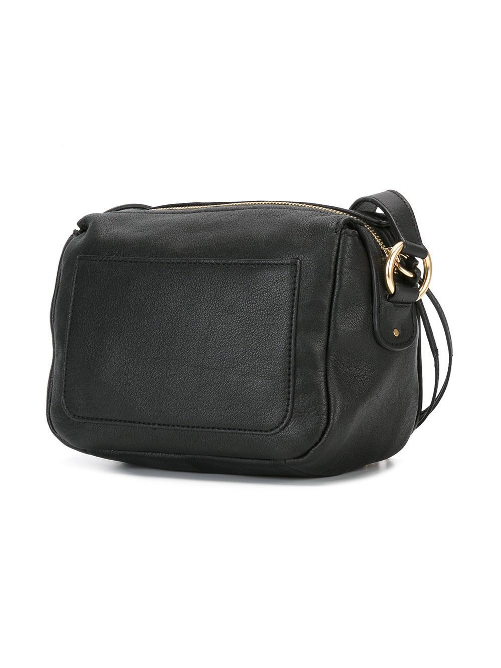 See By Chloé Leather Lois Crossbody Bag in Black