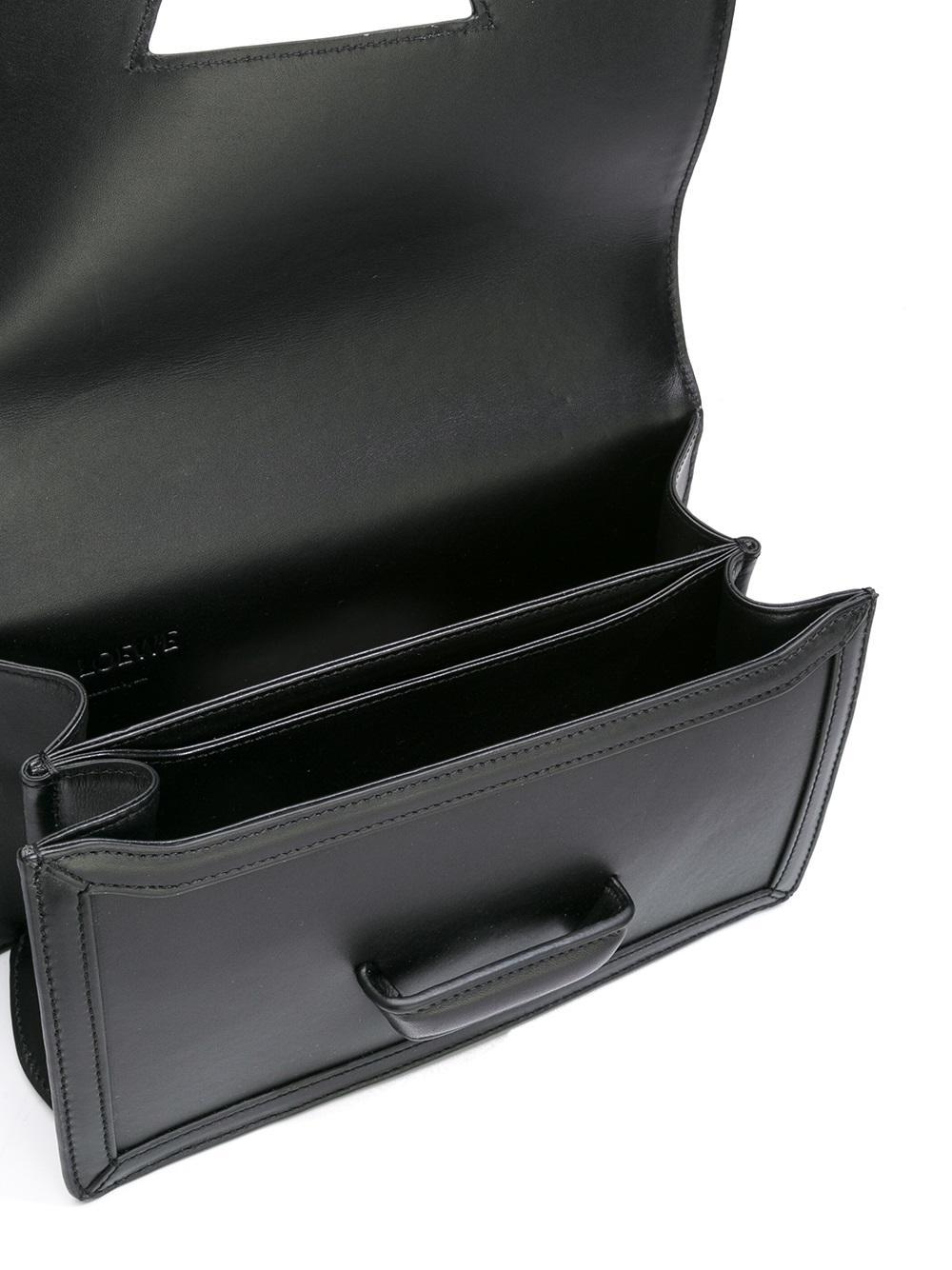 Loewe Leather Barcelona Shoulder Bag in Black