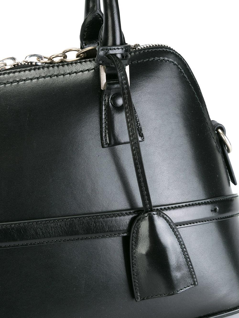 Maison Margiela Cotton Large '5ac' Tote in Black