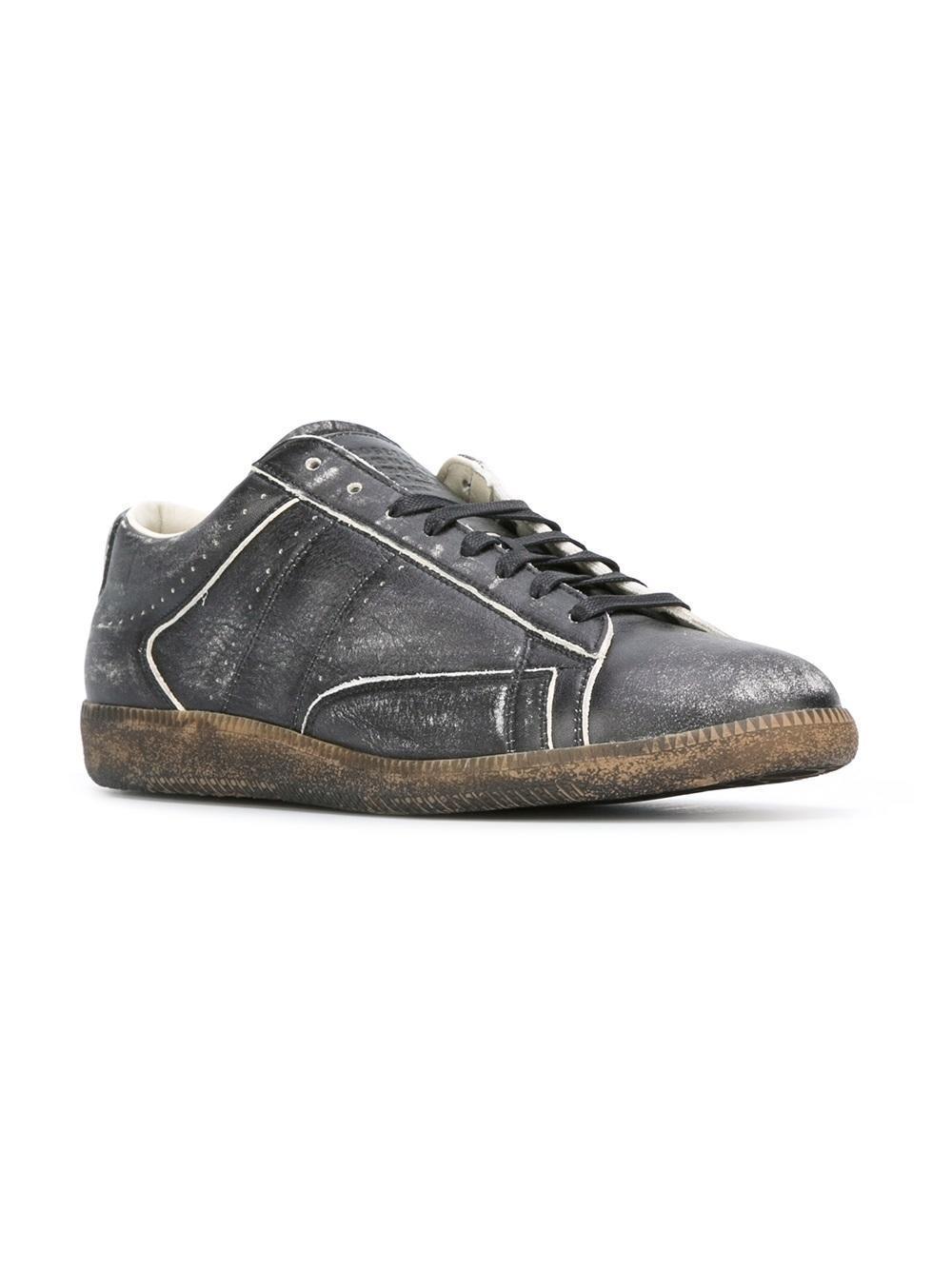 Maison margiela 'replica' Sneakers in Black for Men | Lyst