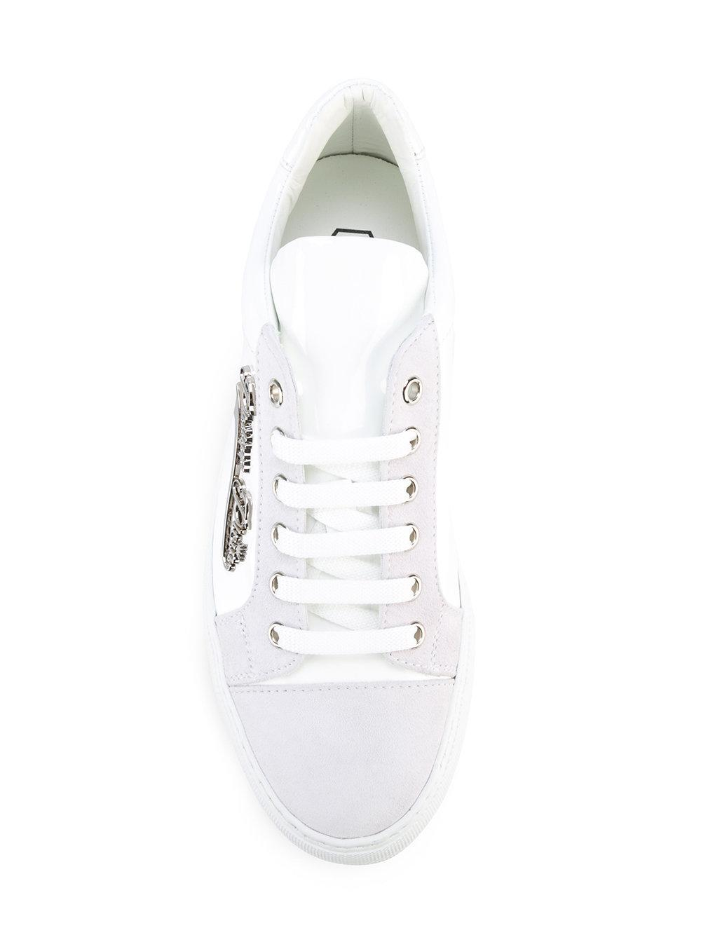 Philipp Plein Leather Dory Low-top Platform Sneakers in White