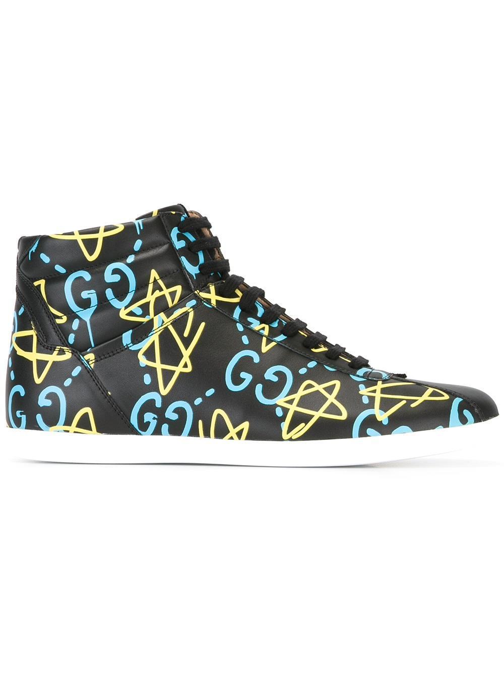 Lyst Gucci Ghost Hi Top Sneakers In Black For Men