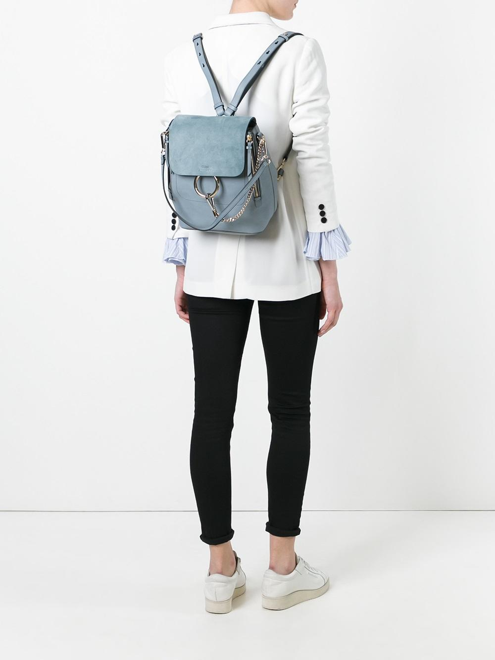 Clearance For Cheap Cheap Sale Best Wholesale Faye small backpack - Blue Chloé Cheap Sale The Cheapest Buy Cheap How Much ttHlo5vST