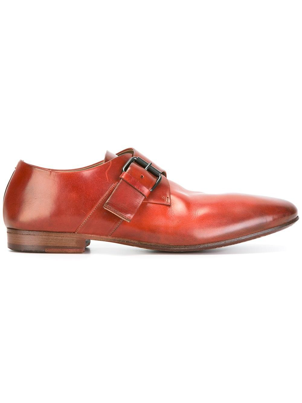 57162a1e23 Marsèll Single Strap Monk Shoes in Red for Men - Lyst