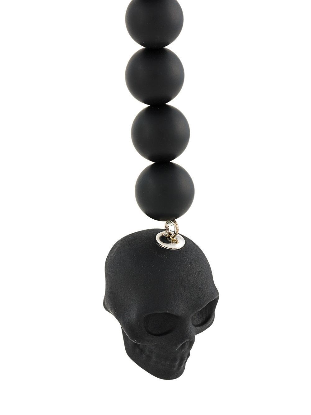 Alexander McQueen Beaded Skull Necklace in Black for Men