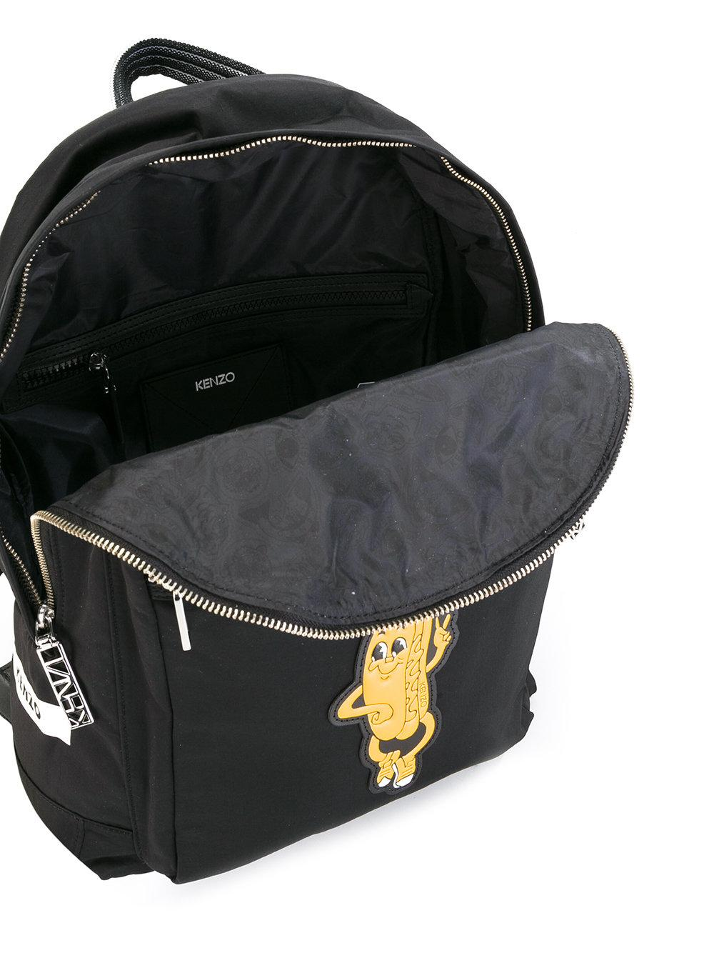 KENZO Synthetic Hot Dog Backpack in Black for Men