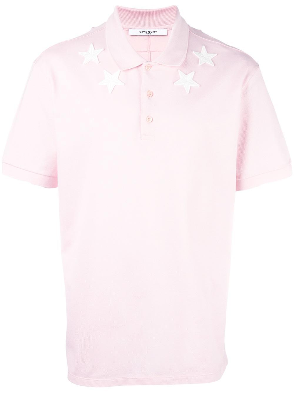 c6993c9d92fd4 Lyst - Givenchy Cuban-fit Star Appliqué Polo Shirt in Pink for Men