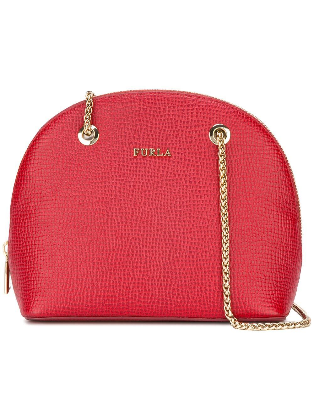 furla asia crossbody pouch in red lyst. Black Bedroom Furniture Sets. Home Design Ideas