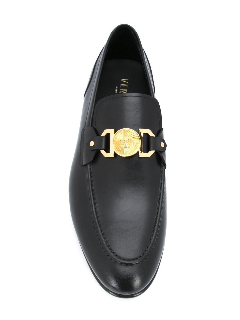 Lyst Versace Medusa Loafers In Black For Men