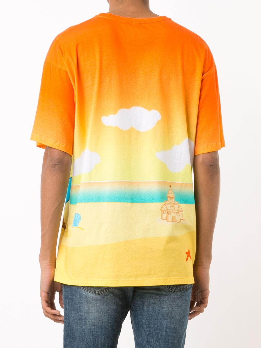 Lyst moschino beach teddy t shirt for men for Beach t shirts for men
