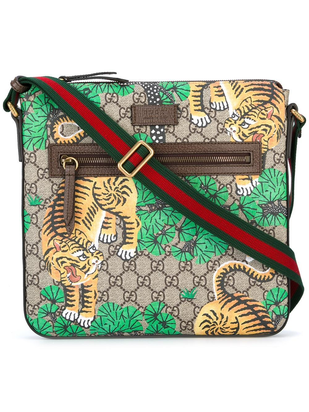 400ec12300a63f Gucci Bengal Gg Supreme Print Messenger Bag in Brown for Men - Lyst