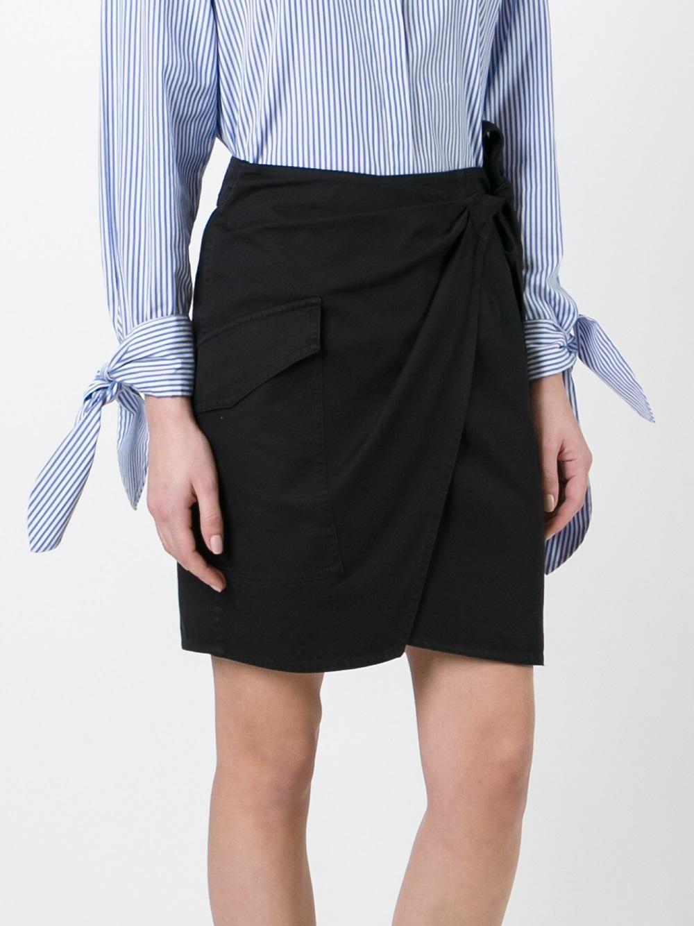 lyst toile isabel marant 39 olga 39 skirt in black. Black Bedroom Furniture Sets. Home Design Ideas