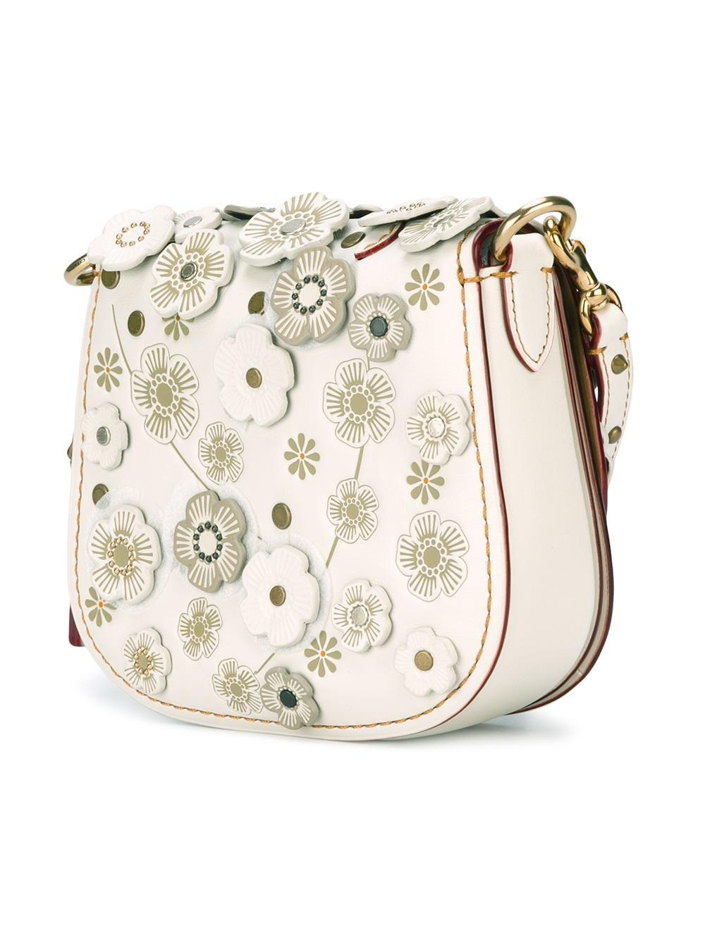 Coach Flower Embellished Crossbody Bag - Lyst