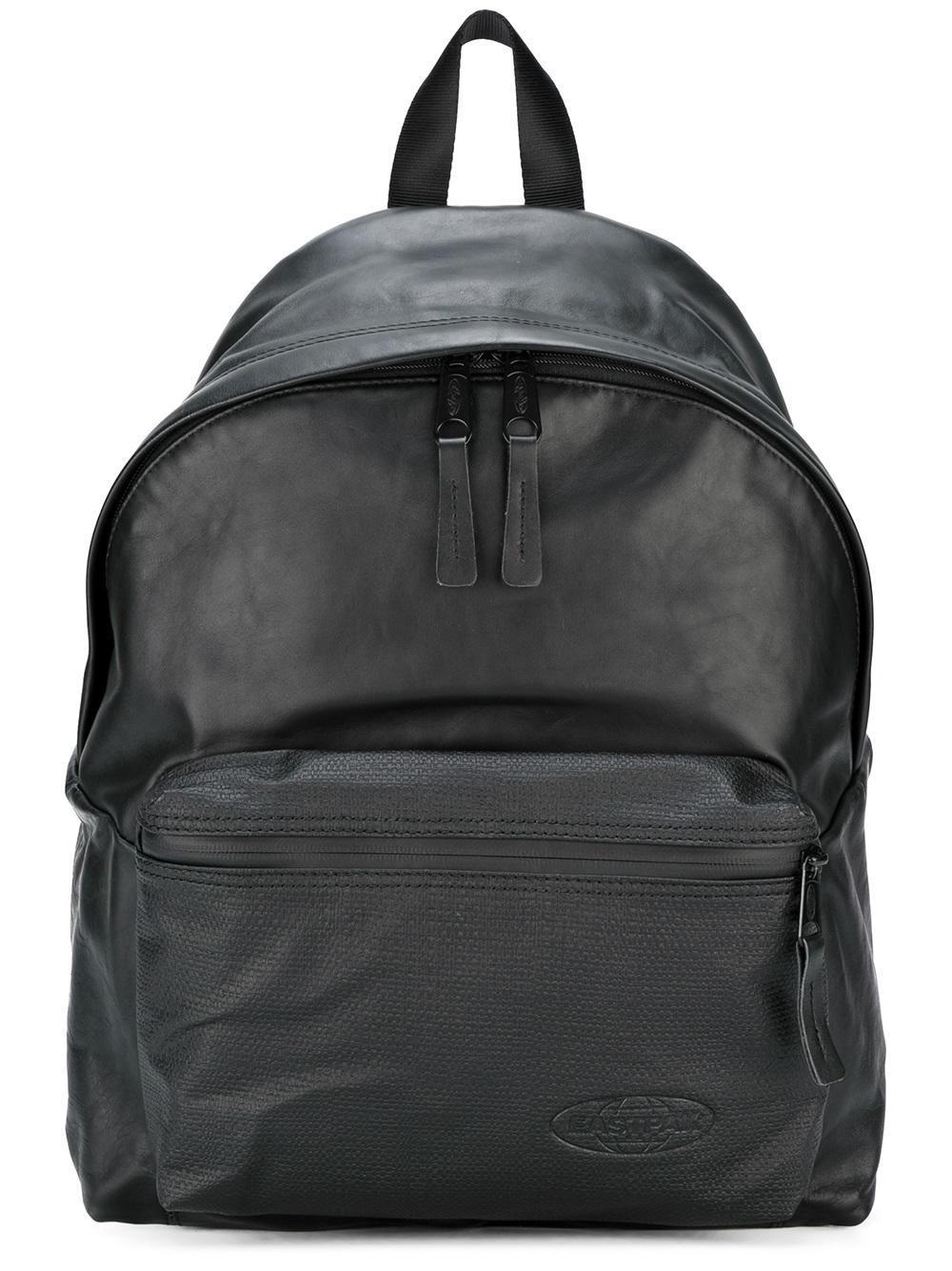 Leather Eastpak Backpack: Eastpak Leather Backpack In Black For Men