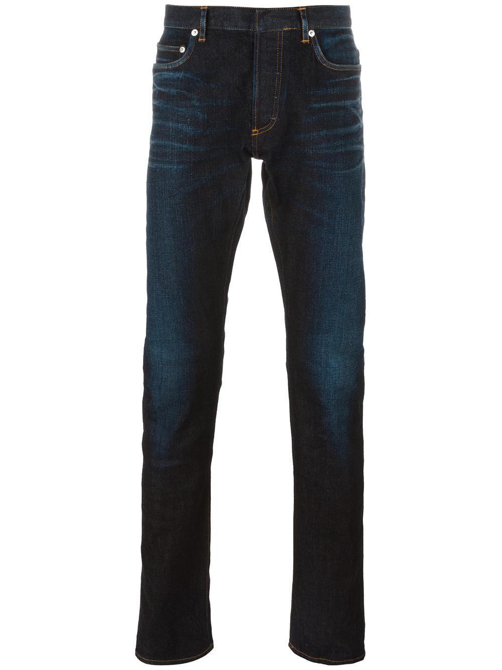 dior homme tapered jeans in blue for men lyst. Black Bedroom Furniture Sets. Home Design Ideas