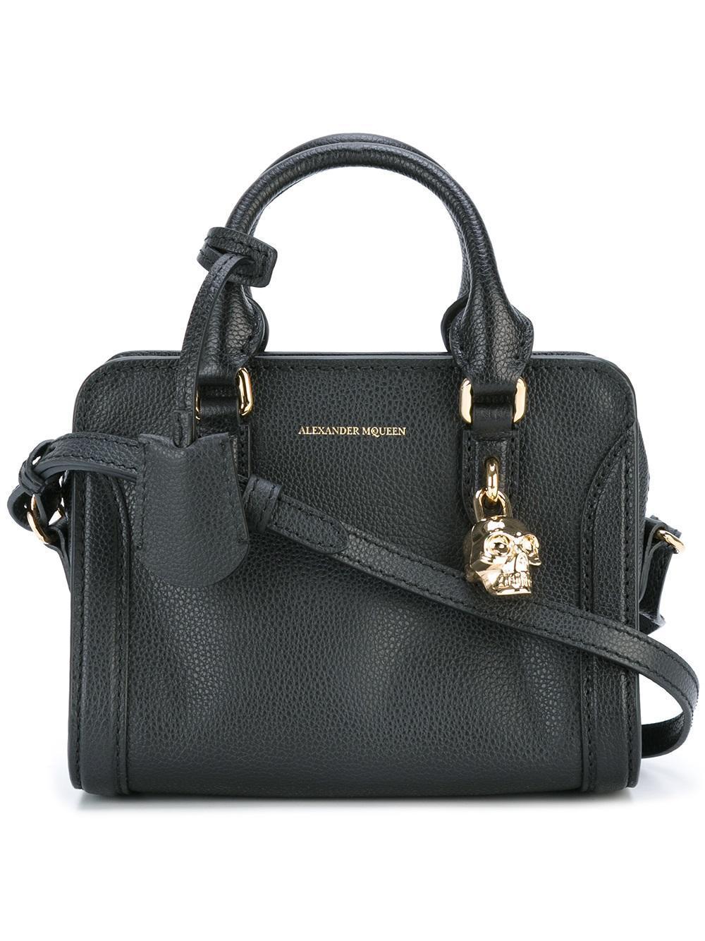 Black Label Price >> Alexander McQueen Leather Padlock Crossbody Bag in Black ...