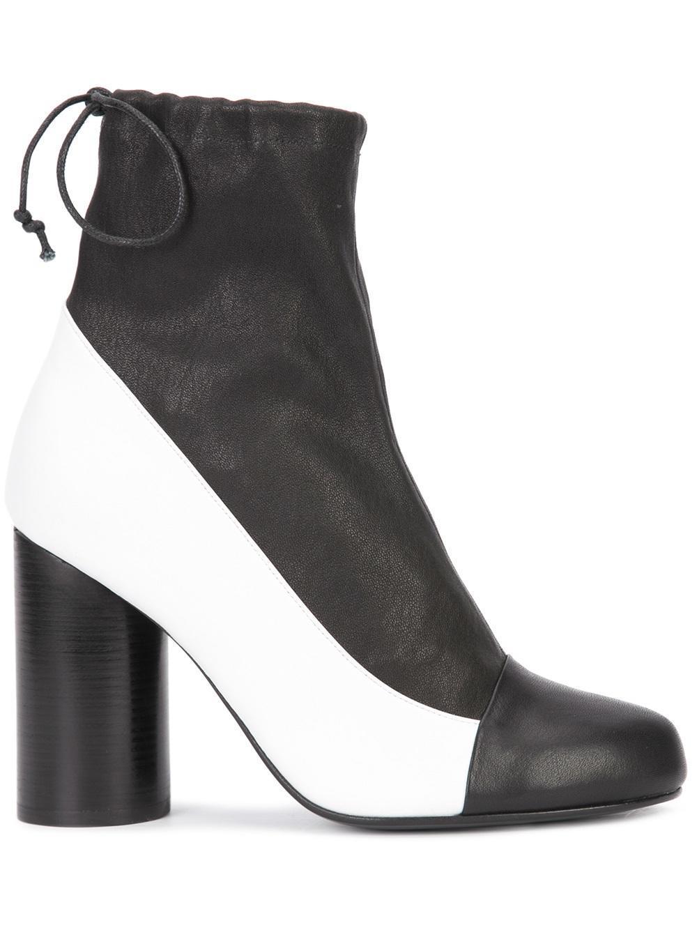 Valas Cylinder Heel Boots In Black Lyst