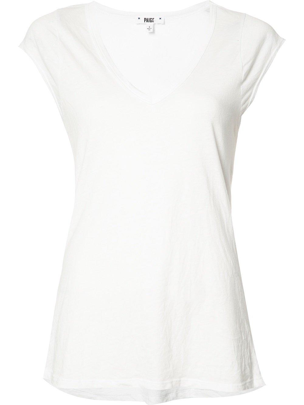 Paige Scoop Neck T Shirt In White Lyst