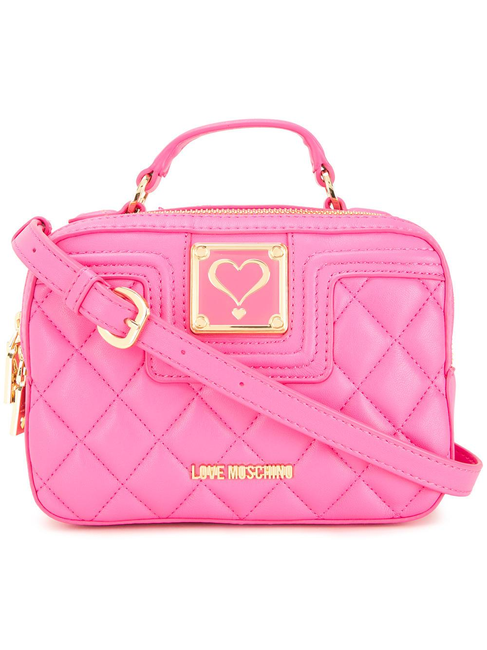 Love Moschino Quilted Crossbody Bag In Pink Lyst