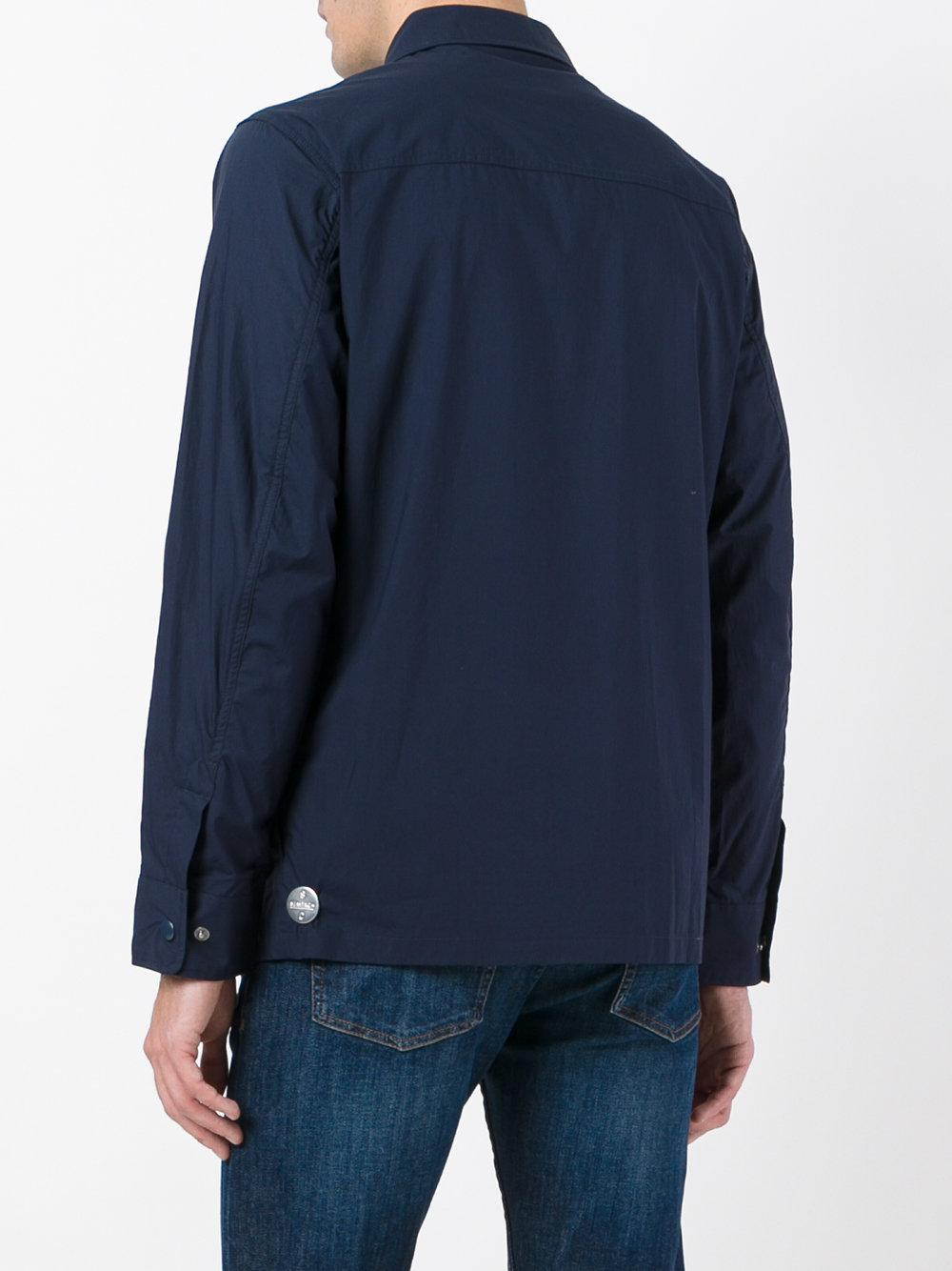Sempach Cotton 'compass' Shirt Jacket in Blue for Men