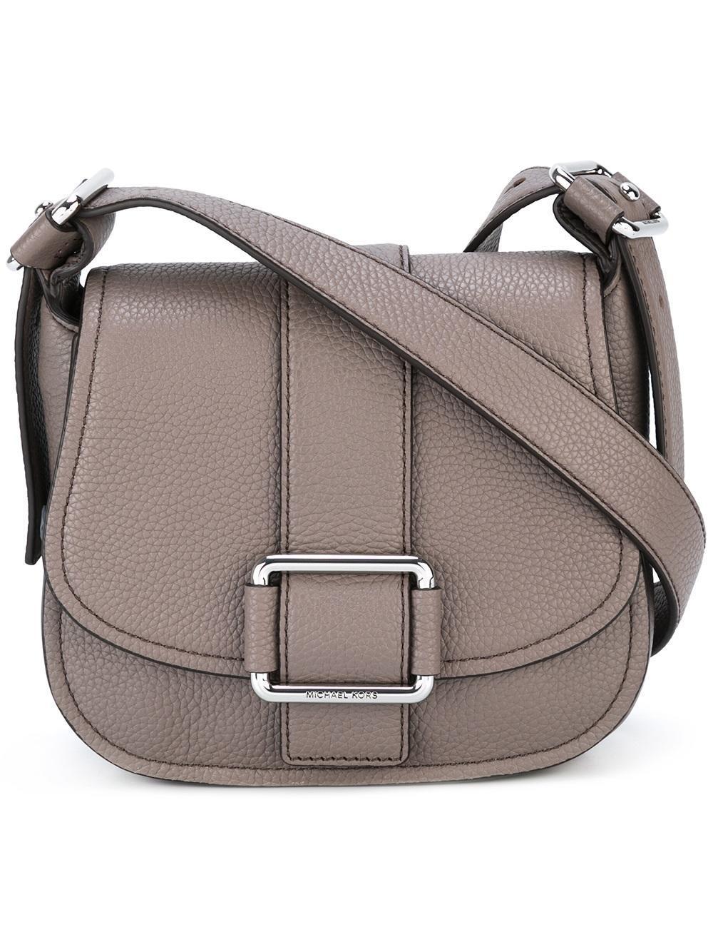 131c9793cd7b92 MICHAEL Michael Kors Maxine Saddle Crossbody Bag in Gray - Lyst