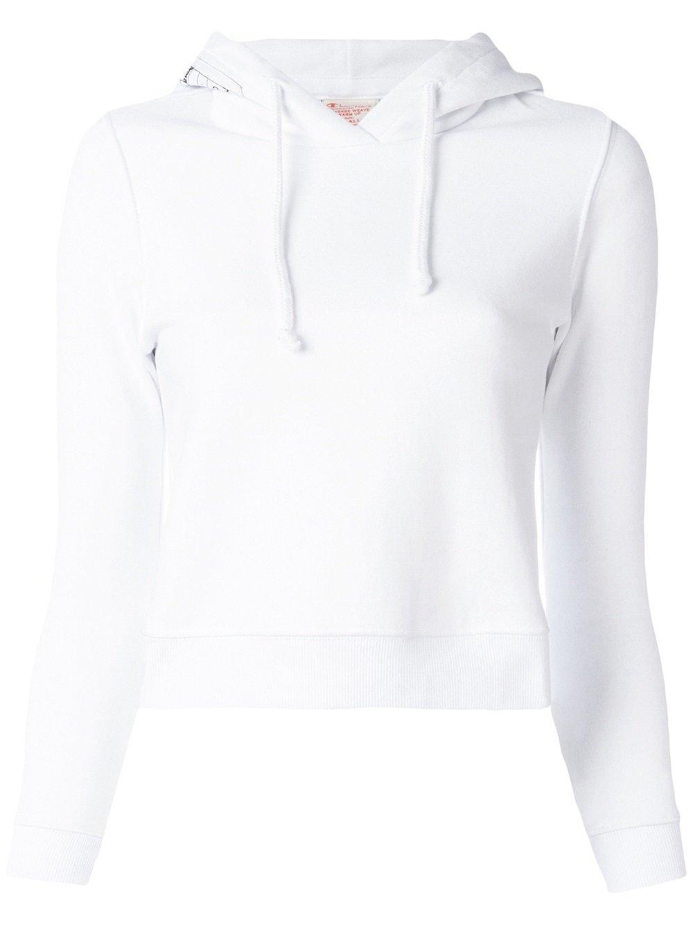 White cotton hoodie