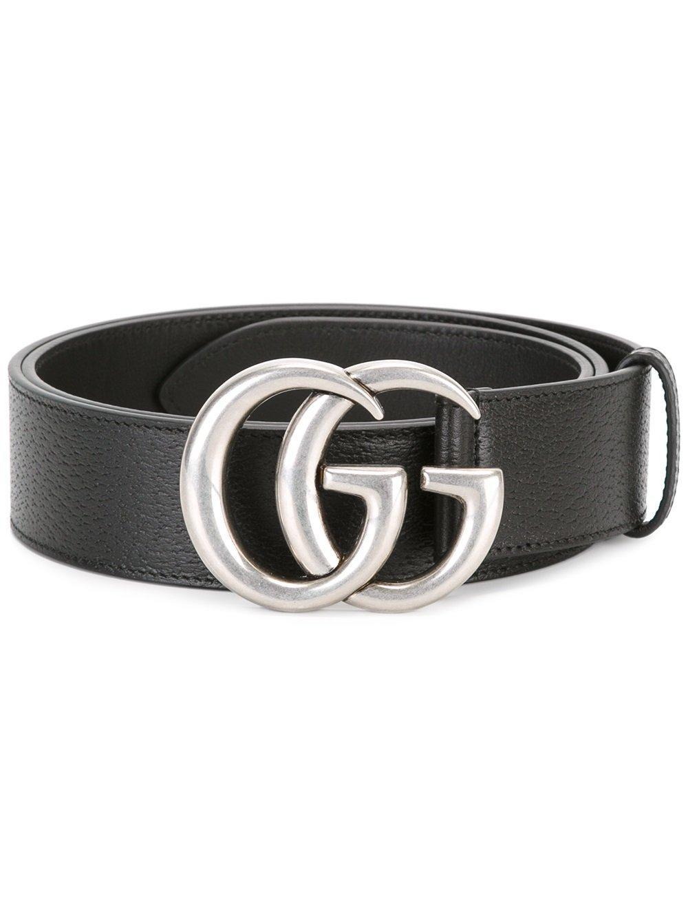 gucci gg buckle belt in black for men lyst