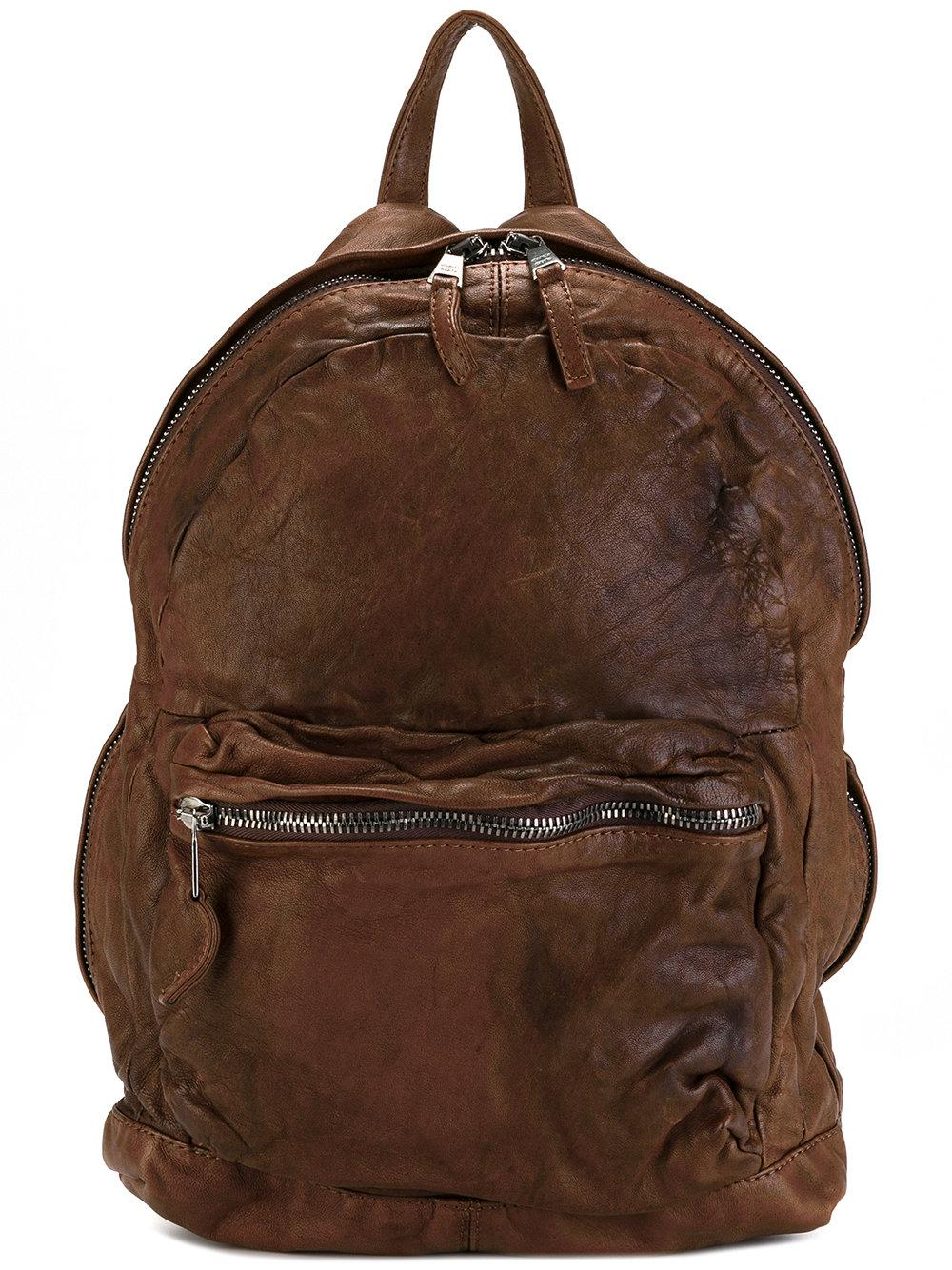Giorgio Brato Front Zip Backpack In Brown For Men | Lyst
