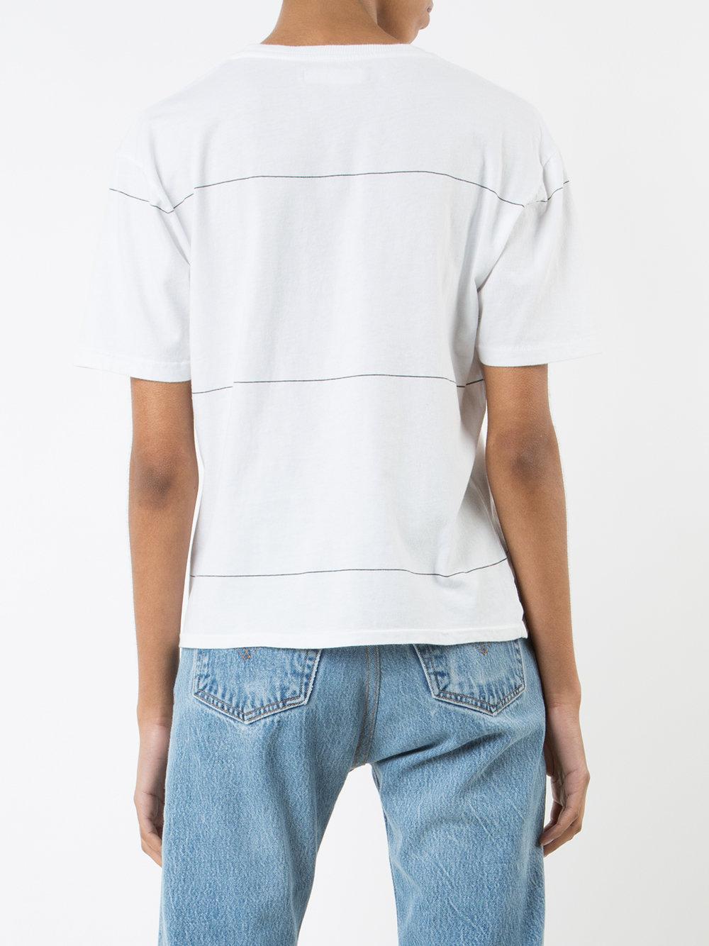 Anine Bing Striped T-shirt in White