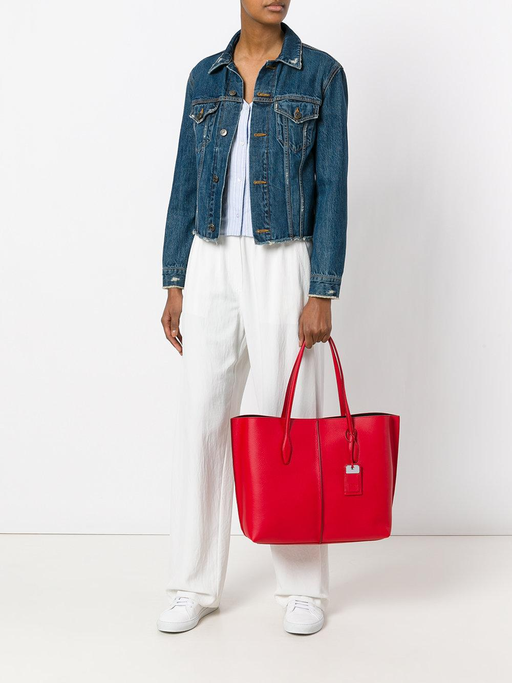 Tod's Leather Joy Large Tote in Red