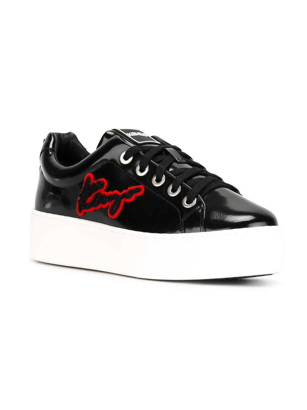 KENZO K-lace Sneakers in Black