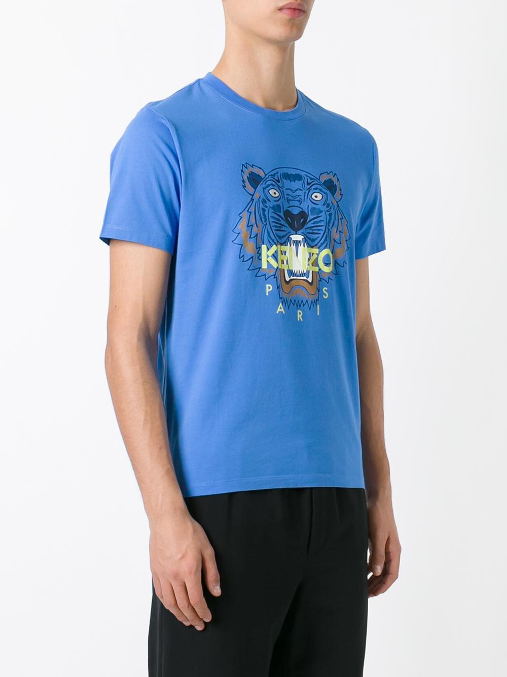 kenzo tiger t shirt in blue for men lyst. Black Bedroom Furniture Sets. Home Design Ideas