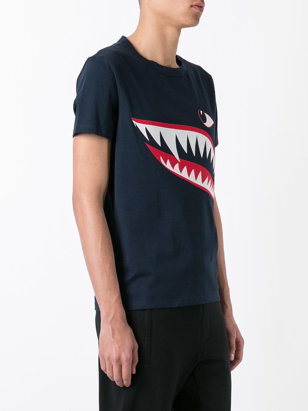 10a5cc74d Moncler Blue Shark Print T-shirt for men