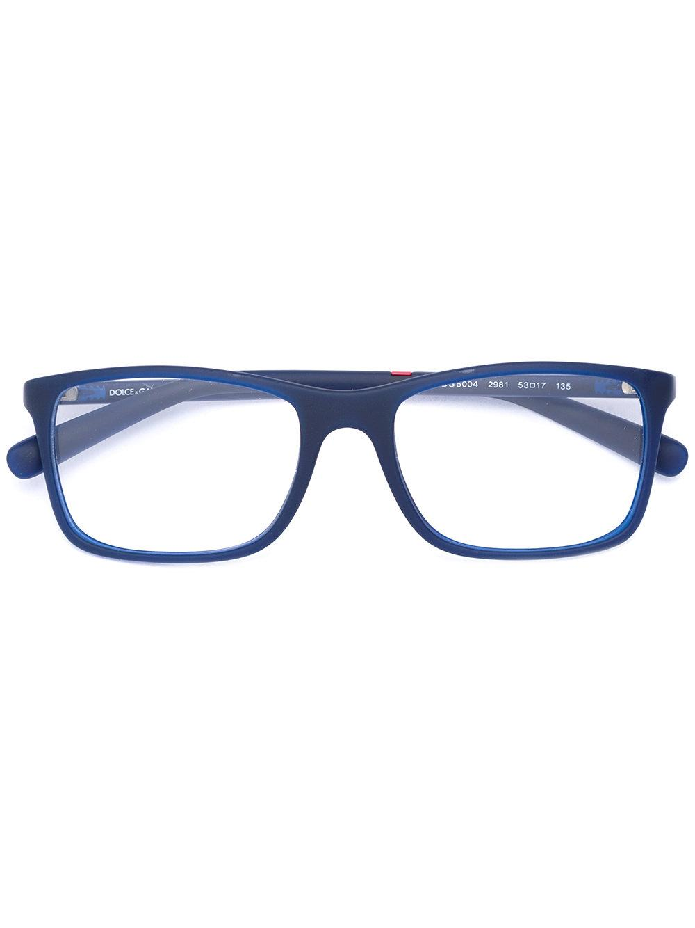 Dolce And Gabbana Mens Eyeglass Frames : Dolce & gabbana - Square Frame Glasses - Men - Rubber - 53 ...