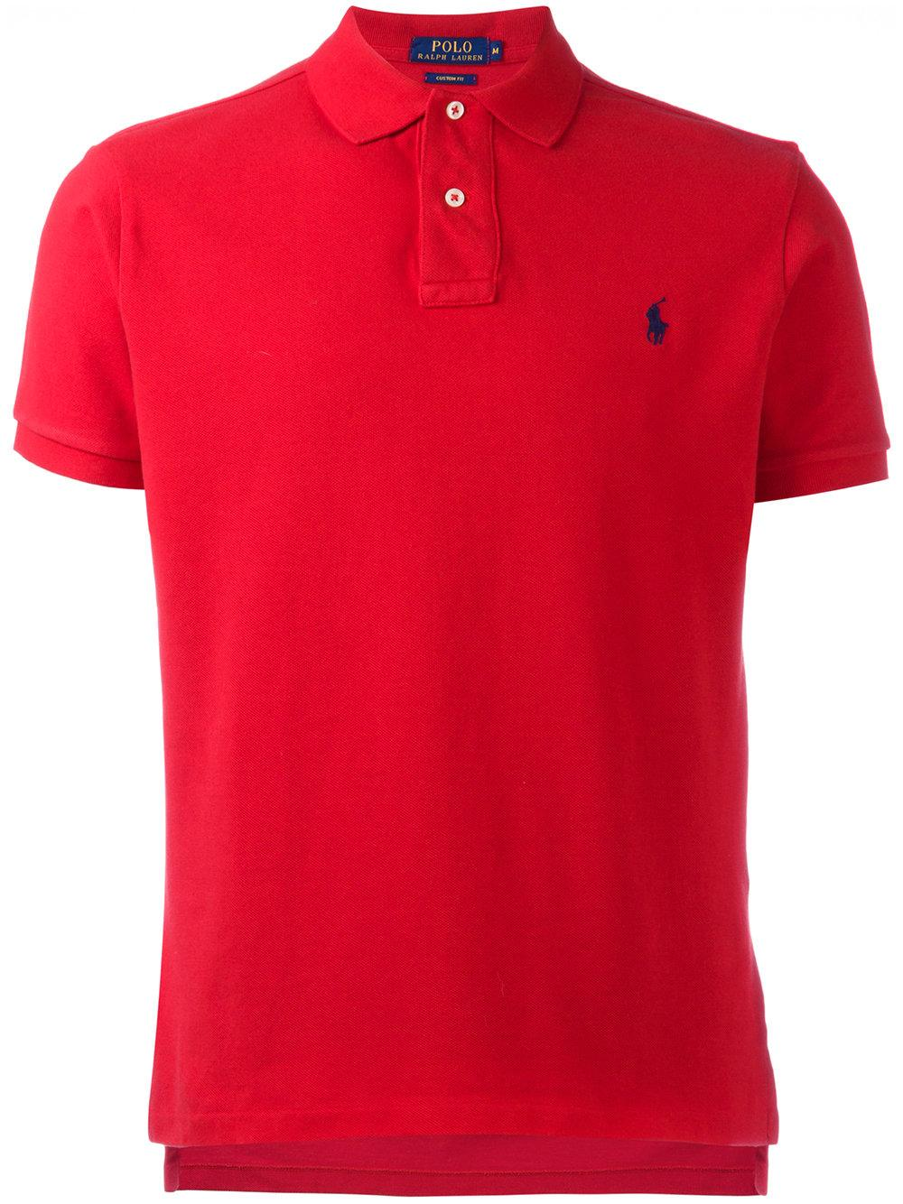Polo Ralph Lauren Logo Embroidery Polo Shirt In Red For