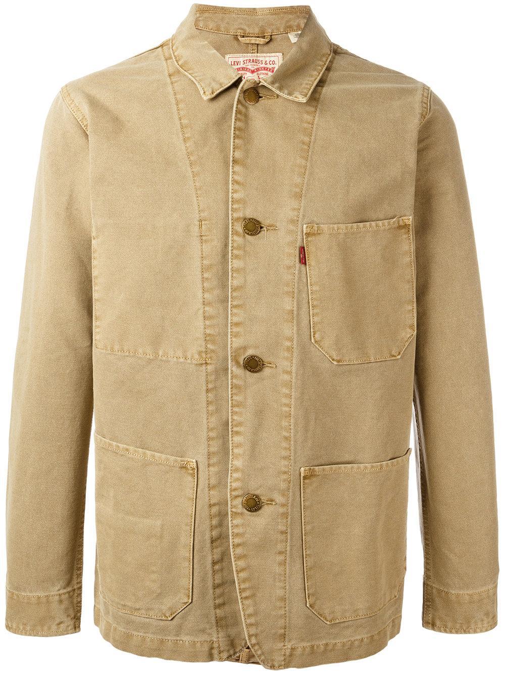 Levi S Engineers Denim Jacket In Brown For Men Lyst