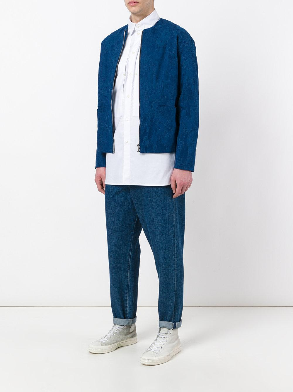 Natural Selection Cotton Tarum Jacket in Blue for Men