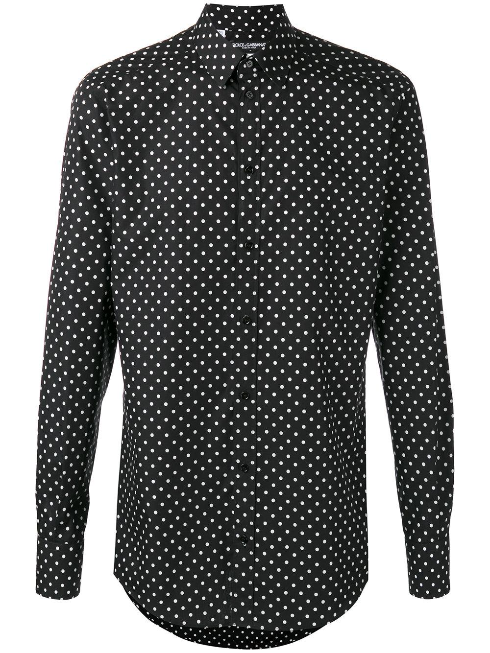 Color: white with red and black square polka dot type of pattern. It is greatly appreciated! Mens BRISTOL AND BULL Button Down Shirt Polka Dot Long Sleeve Black White M Med.