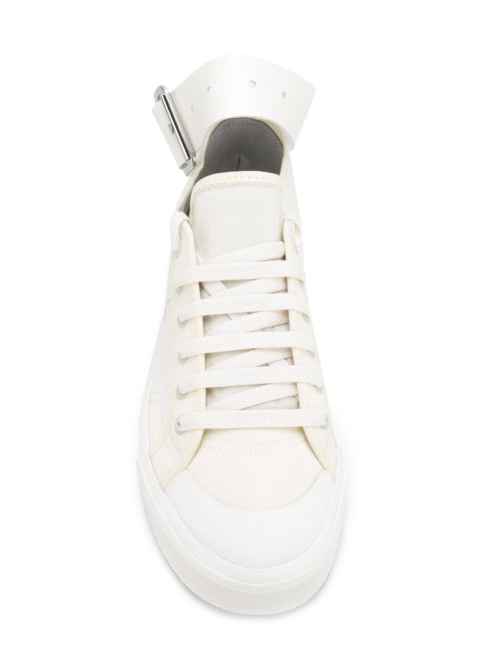 adidas By Raf Simons Cotton Spirit Buckle Sneakers in White