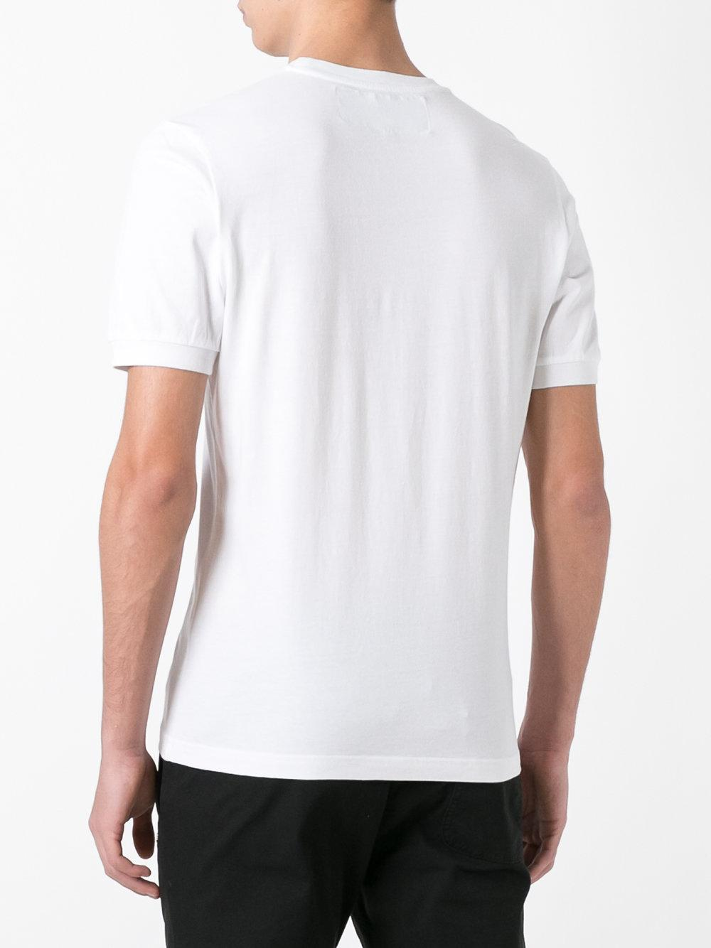Hydrogen star print t shirt in white for men lyst for T shirt printing mobile al