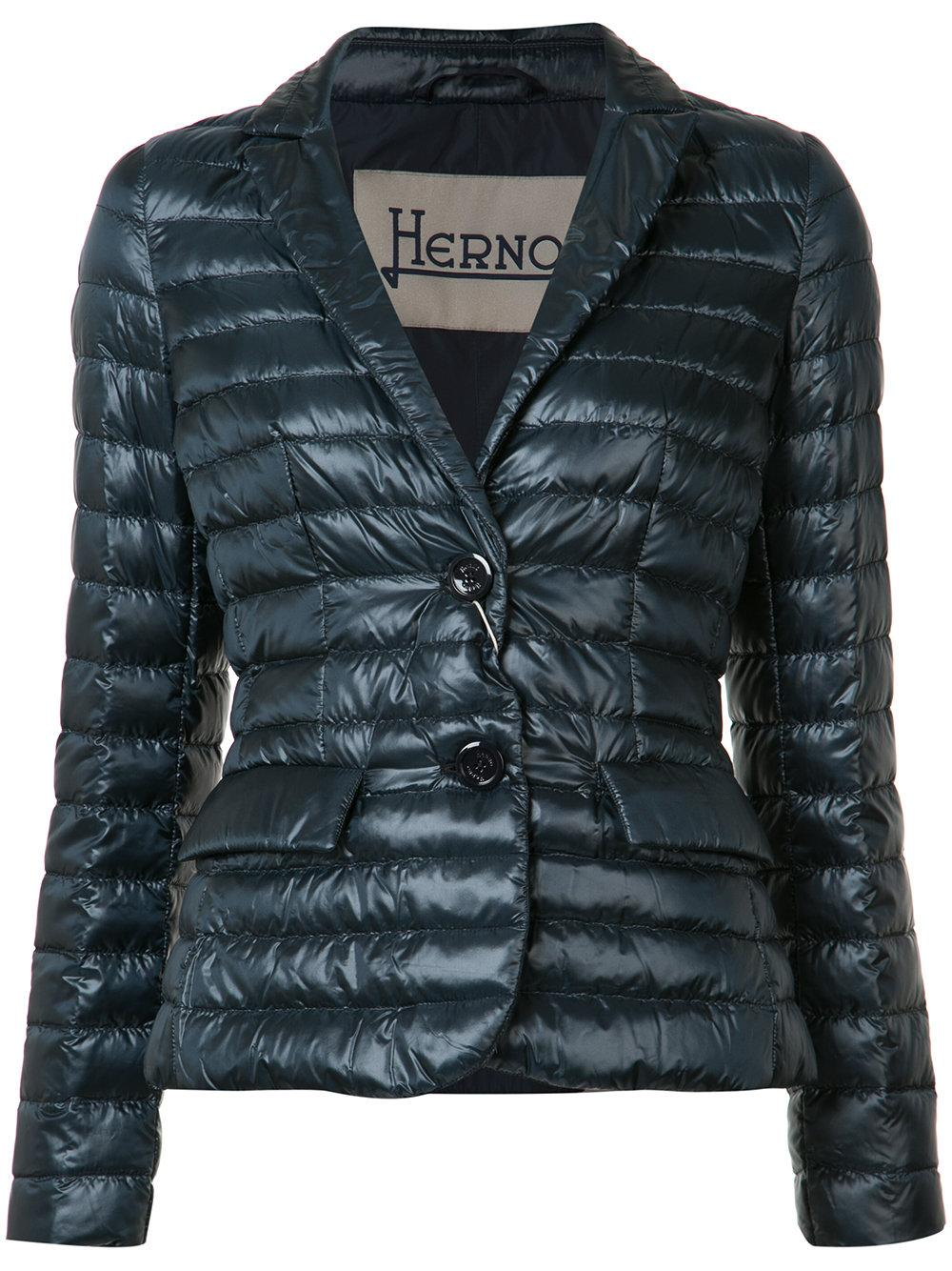 Herno Synthetic Flap Pockets Padded Jacket In Blue Lyst