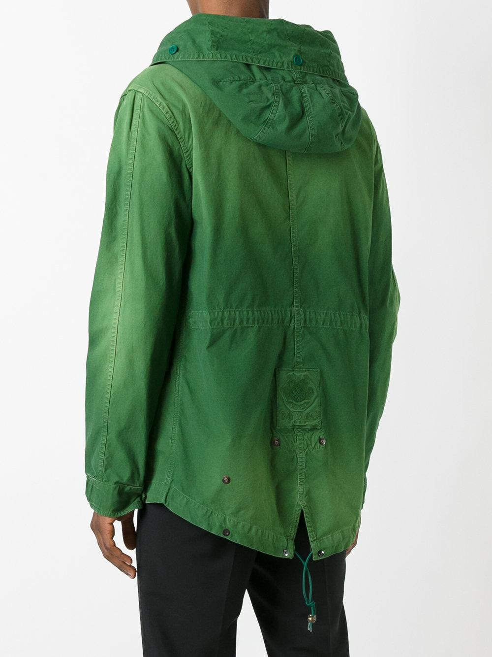 Mr Amp Mrs Italy Multi Patch Hooded Jacket In Green For Men