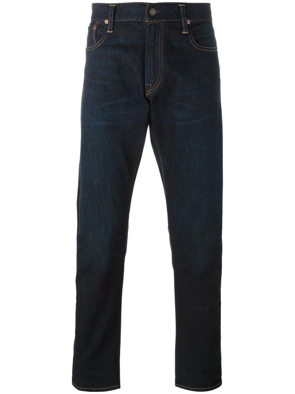 polo ralph lauren straight leg jeans in blue for men lyst. Black Bedroom Furniture Sets. Home Design Ideas