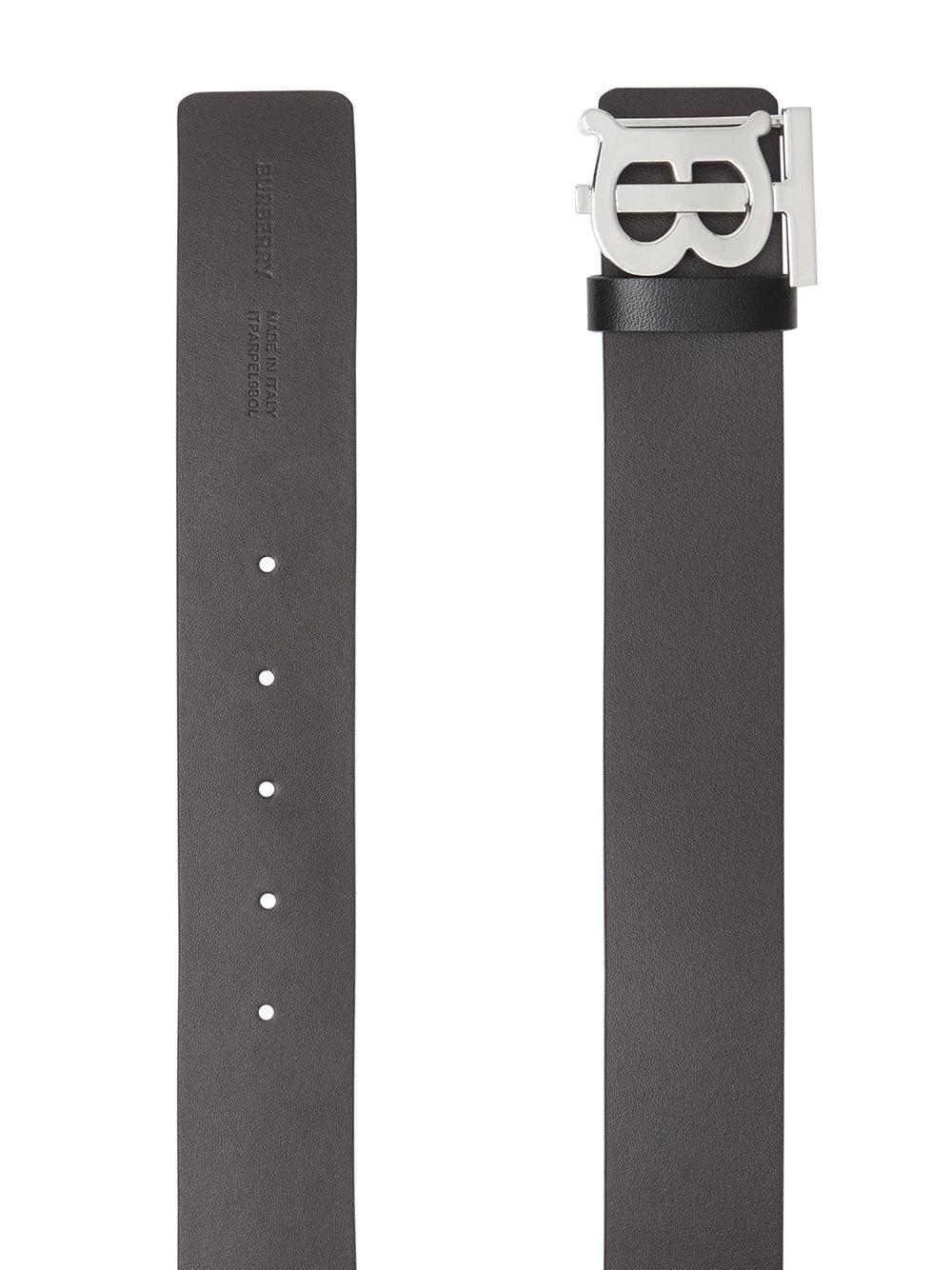 1810969e9 Burberry - Black Cinturón reversible con monograma for Men - Lyst. Ver en  pantalla completa