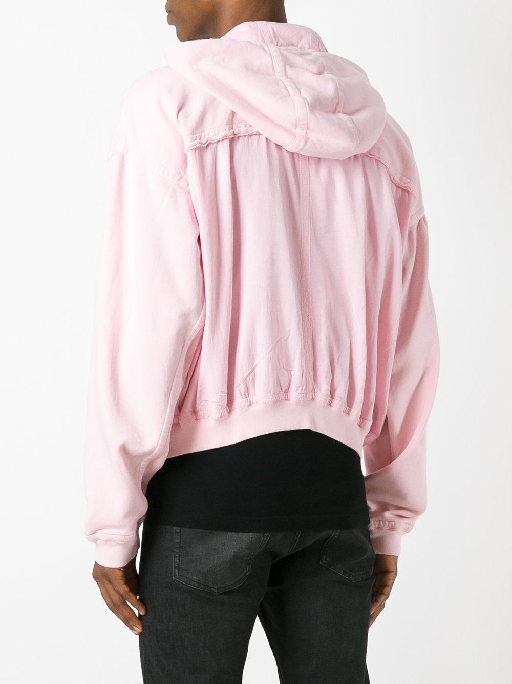 Haider Ackermann Cotton Zip Hoodie in Pink/Purple (Pink) for Men