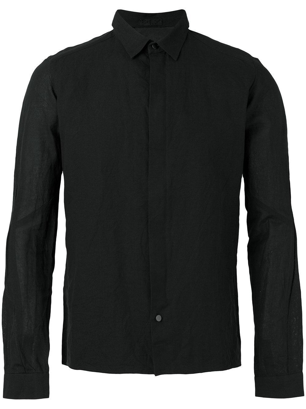 Devoa Slim Fit Shirt In Black For Men Lyst
